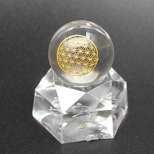フラワーオブライフ水晶と台座