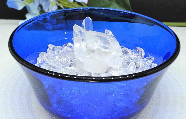 夏にピッタリ、ブルーのフランス製ガラスボウルが涼しげな浄化セット